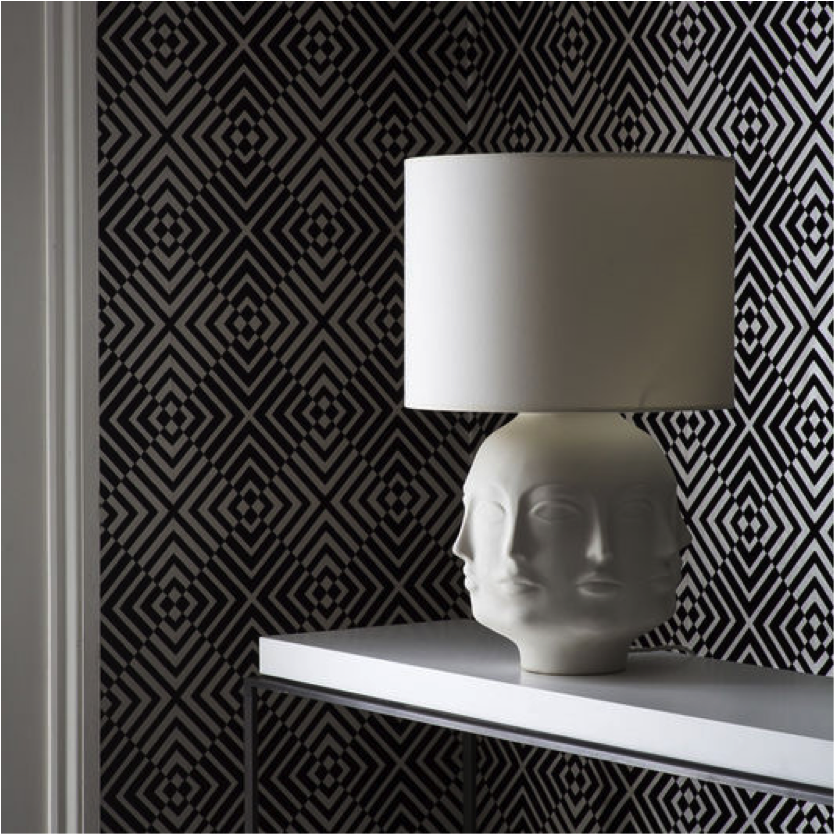 Black and White Geometric Wallpaper