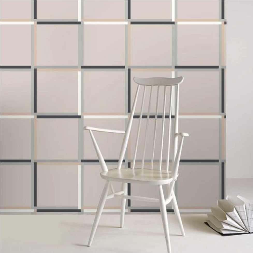 Modern Pink Block Wallpaper