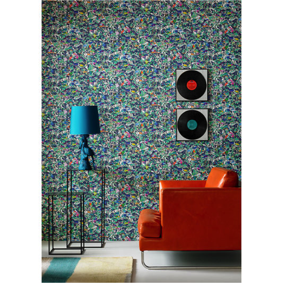 Floral wallpaper in various colors