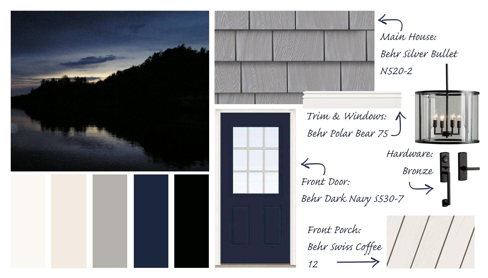 Exterior House Paint Palette